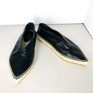 Céline Paris black leather espadrilles